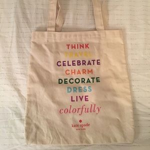 Kate Spade Canvas Tote